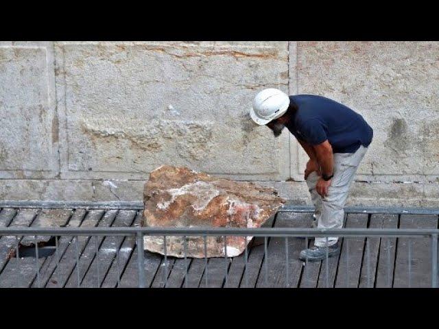 Fallen Western Wall Stone Removed