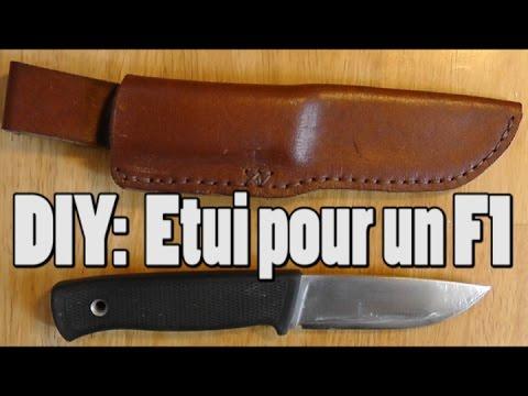 Tuto faire un etui de couteau f1 en cuir de recup cosmikvratch youtube - Comment bien aiguiser un couteau ...