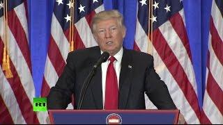 Первая пресс-конференция избранного президента США Дональда Трампа