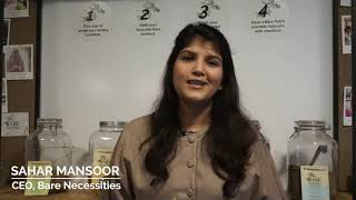 Sahar Mansoor, Founder and CEO of Bare Necessities Zero Waste - 2020 GGEF Star of Asia Award Winner
