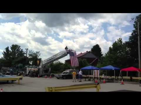 Scottdale PA  VFD Car Show Opening Ceremony 7/28/2013