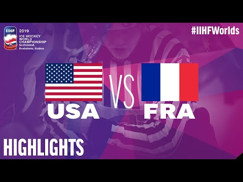 USA Vs. France | Highlights | 2019 IIHF Ice Hockey World Championship