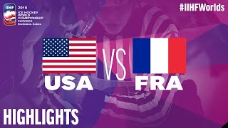 USA vs. France | Highlights | 2019 IIHF Ice Hockey World Championship