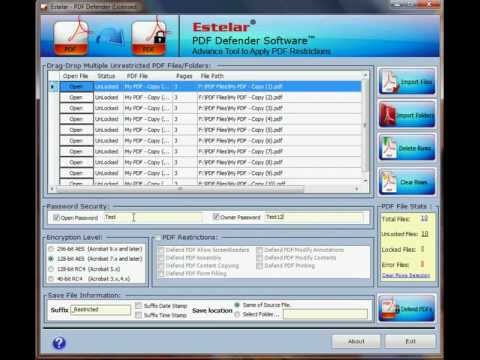 PDF Protection Software By Estelar