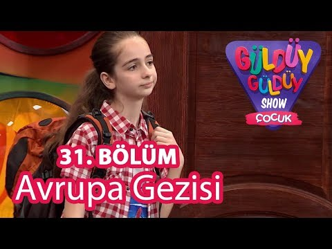 Güldüy Güldüy Show Çocuk 31. Bölüm | Burcu'nun Avrupa Gezisi
