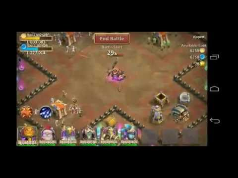 CASTLE CLASH SLOW DOWN TALENT VS DUNGEON BOSS