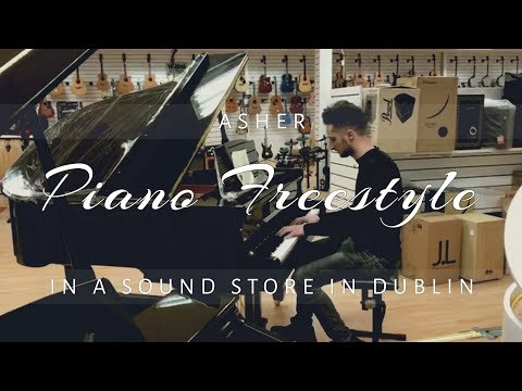 Asher Piano Improvisation in a Sound Store in Dublin