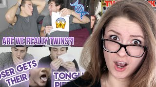 IDENTICAL VS FRATERNAL, TONGUE PIERCING AND MORE!! - DOLAN TWINS COMPILATION REACTION