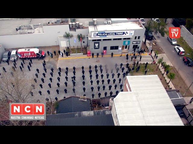CINCO TV - Julio Zamora y Sergio Berni inauguraron la nueva sede de la Policía Local de Tigre