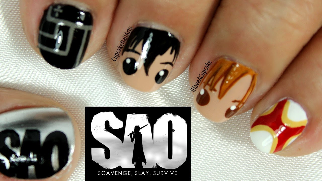 Sword Art Online Nail Art - YouTube