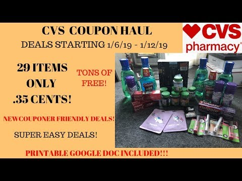 CVS Coupon Haul Deals Starting 1/6/19~29 Items Only.35 Cents!~Lots of FREE & Super CHEAP Products ❤️