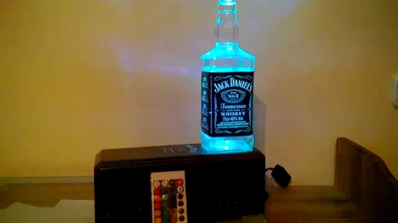 Design lampe mit led farbwechsel jack daniels box youtube for Lampe led exterieur design