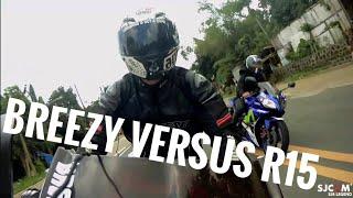 Breezy vs R15 / uphill vlog / LETS RIDE!