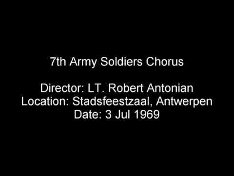 7th Army Soldiers Chorus, Stadsfeestzaal, Antwerpen, Belgium, 1969