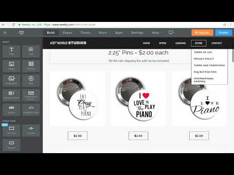 How to create a store page on your Weebly site without Monthly Fees!!!!