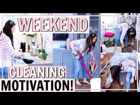 CLEANING MOTIVATION FOR YOUR WEEKEND CLEANING ROUTINE! SPEED CLEAN MY HOUSE W/ ME | Alexandra Beuter
