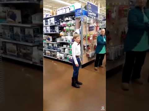 Kid singing a song