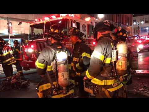 FDNY BOX 725 - FDNY BATTLING A 10-75 ALL HANDS FIRE ON W. 35TH STREET IN HELL'S KITCHEN, MANHATTAN.