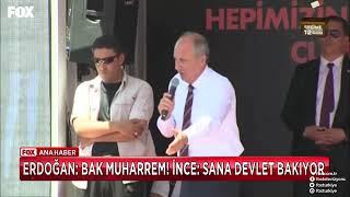 Recep Tayyip Erdoğan: Bana Bak Muharrem. Muharrem ince:Sana Belediye Baksın Erdoğan :)