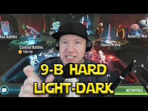 Star Wars: Galaxy Of Heroes - 9B Hard Dark And Light Side Battles