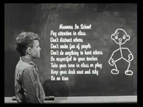 Manners in School (1958) - YouTube
