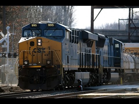 Freight Train and Regional Rail Operations at Woodbourne Station - January 1, 2017