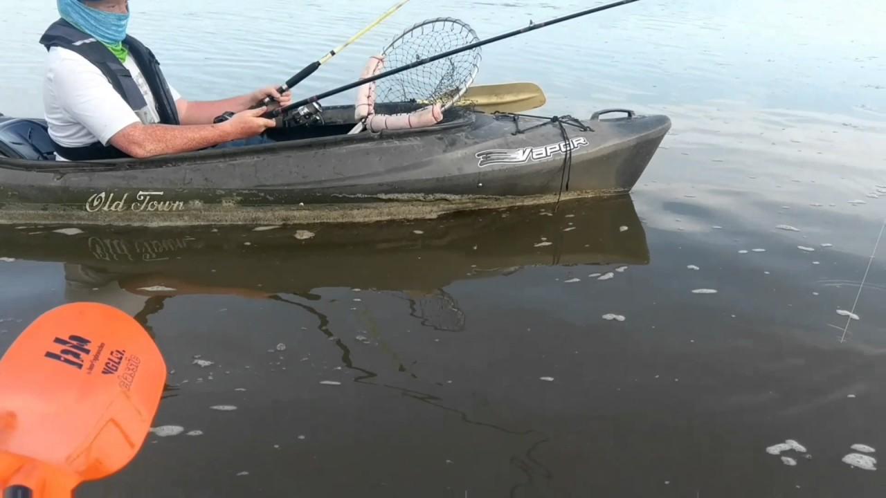 Kansas kayak fishing bluecaten at milford lake youtube for Milford lake fishing report