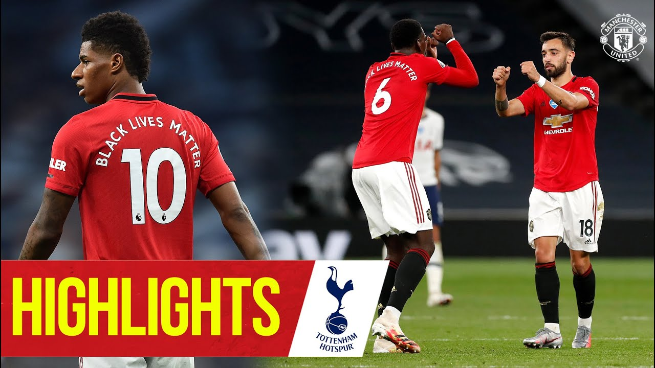 Highlights | Manchester United 1-1 Tottenham Hotspur | Fernandes strikes | Premier League 19/20