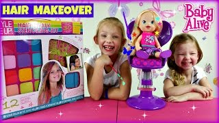 Repeat youtube video BABY ALIVE PLAY N STYLE CHRISTINA Baby Alive - Hair Makeover !