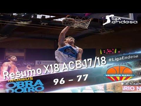Resumo X18 ACB 17/18 Obradoiro CAB Vs Valencia Basket
