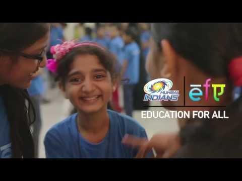 Mumbai Indians 'Education For All' Initiative (Hindi)