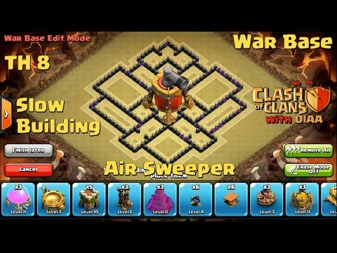 COC l The Miracle TH8 Clan War Base With Air Sweeper - Anti 3 Stars (Dragons,Hogs,Gowipe)