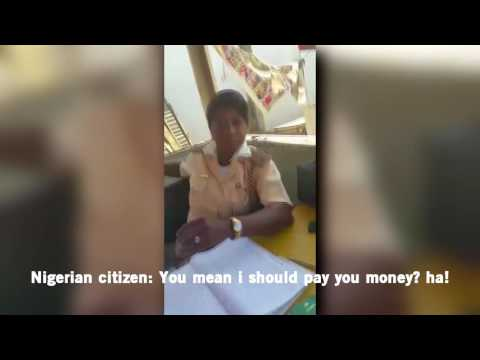 Nigeria Immigration Officer Udensi I L & Her Colleagues Extorting Money From Nigerians