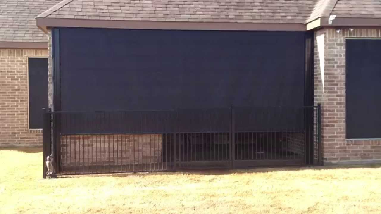 Wonderful Southern Patio Enclosures Remote Controlled High Wind Sun Shade Drop  Curtain Patio Enclosure