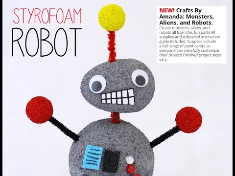 How to Make a Robot (Kid's Craft Tutorial)