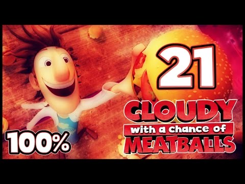 Cloudy With A Chance Of Meatballs Walkthrough Part 21 -- 100% (PS3, X360, Wii) ACT 6 [ENDING]