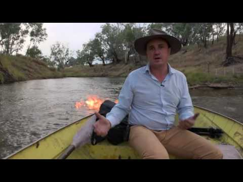 THE CONDOMINE RIVER ON FIRE! Gas explodes from Australian river near fracking site