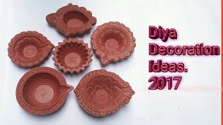 How To Decorate Diyas at Home // Diya painting for Diwali // Paint Diya in easy and fast way at Home