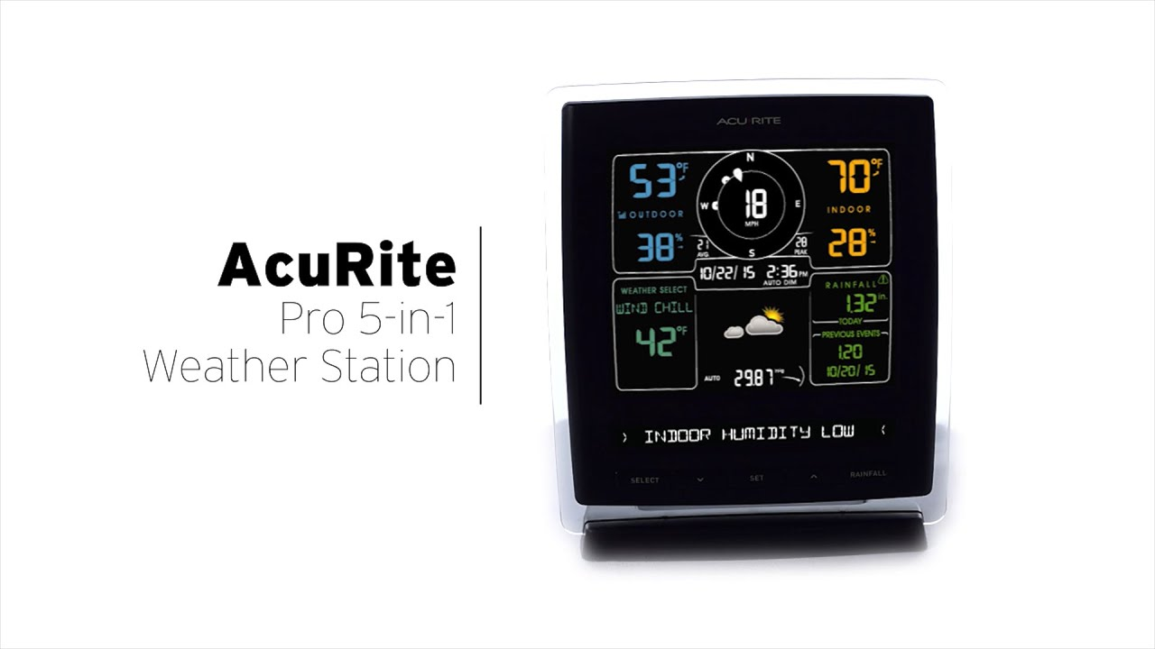 AcuRite 01517 Pro Color Weather Station - YouTube