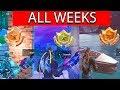 SECRET Battle Star & BANNER (ALL 7 WEEKS) Locations Season 6 Free Tier BattleStars - Fortnite