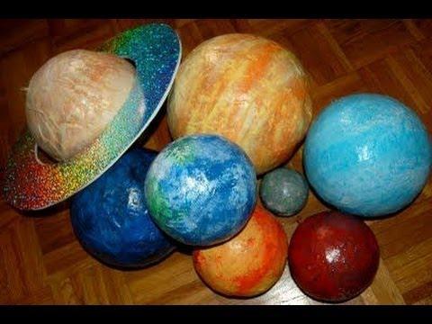 Сделать планету своими руками из бумаги