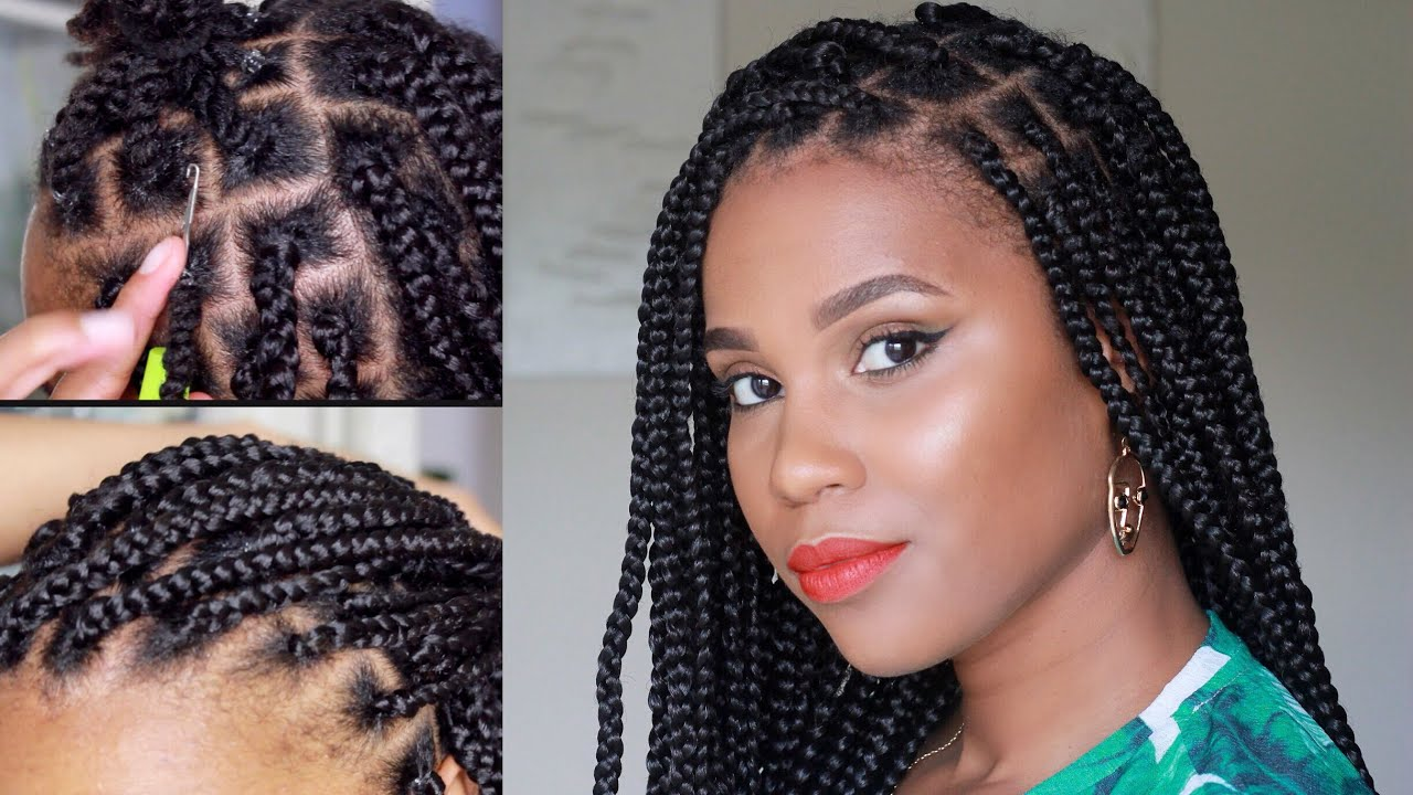 rubber band crochet box braid method beginner friendly youtube