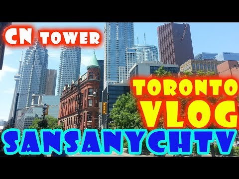 VLOG Toronto CN Tower Textile museum Baskin Robbins by SanSanychTV
