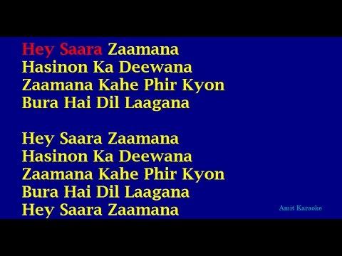 Saara Zaamana - Kishore Kumar Hindi Full Karaoke with Lyrics