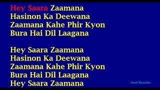 Saara Zaamana - Kishore Kumar Hindi Full Karaoke with Lyrics