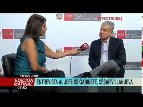 """Premier Villanueva: """"Somos un Gabinete que quiere estar cerca de la población"""""""