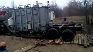 Вытягиваем трал с трансформатором 25МВА (масса груза около 50 тонн)(, 2015-11-20T19:22:26.000Z)