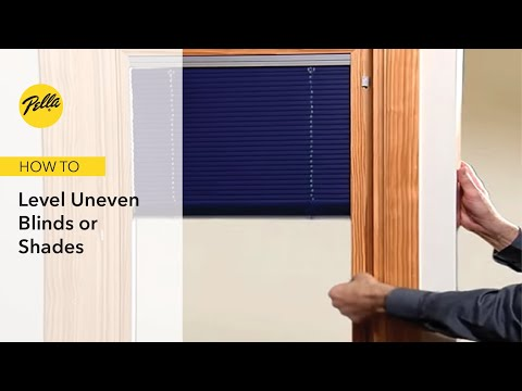 How To Level Uneven Blinds or Shades
