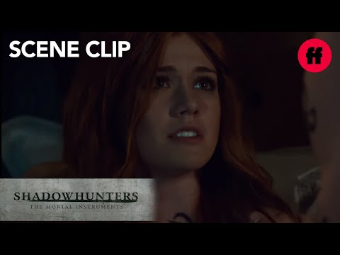 Jace Comforts Clary From Bad Dream | Season 2, Episode 17 | Shadowhunters