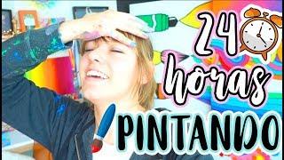 24 HORAS PINTANDO SIN PARAR! 😰🎨 NO SALI DE MI TALLER DE ARTE!!! thumbnail
